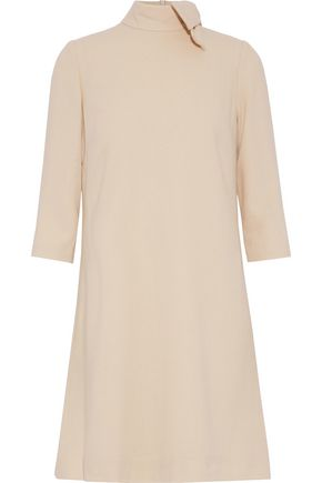 GOAT Ava bow-embellished wool-crepe turtleneck mini dress