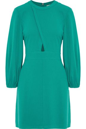 TIBI Savannah cutout crepe mini dress
