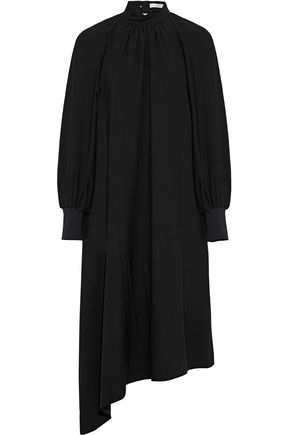 TIBI Asymmetric poplin midi dress