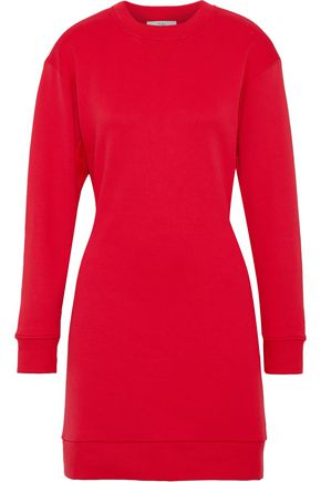 TIBI Cutout French cotton-terry mini dress