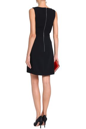 ANTONIO BERARDI Satin-paneled crepe mini dress
