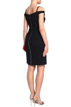 ELIE TAHARI Cold-shoulder crepe dress