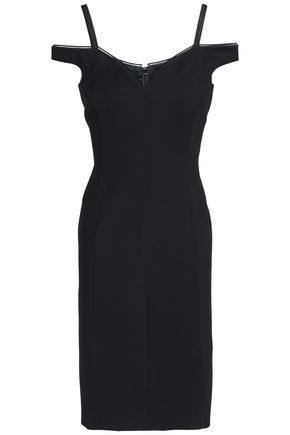 ELIE TAHARI Cold-shoulder crepe dress
