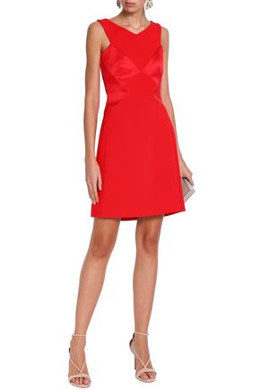 b5d7660e812d02 ANTONIO BERARDI Satin-paneled crepe mini dress