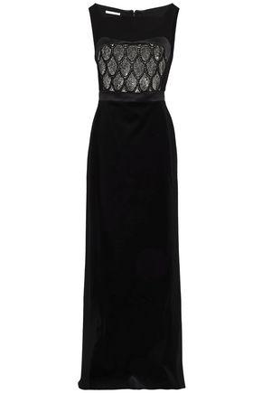 ANTONIO BERARDI Embellished velvet gown