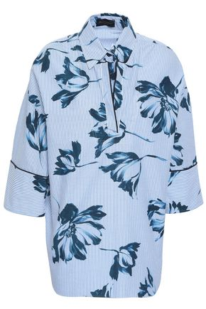 PIAZZA SEMPIONE Printed cotton-blend oxford shirt