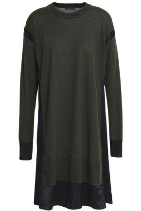 RAG & BONE Satin-trimmed merino wool-blend mini dress