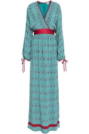 TALITHA Wrap-effect printed silk crepe de chine maxi dress