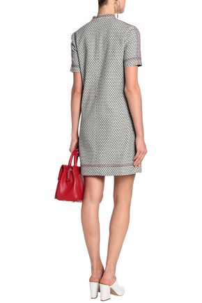 PIAZZA SEMPIONE Stretch-cotton jacquard mini dress