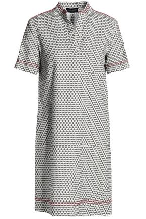 PIAZZA SEMPIONE Stretch-cotton jacquard mini dress