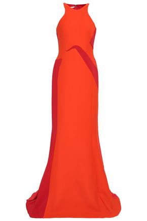 ANTONIO BERARDI Paneled wool-blend gown