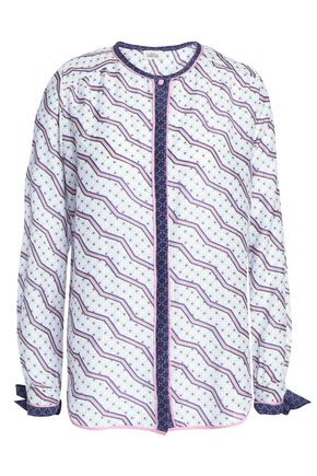 TALITHA Printed cotton and silk-blend mousseline shirt