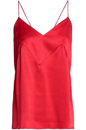 MICHAEL LO SORDO Open-back silk-satin camisole