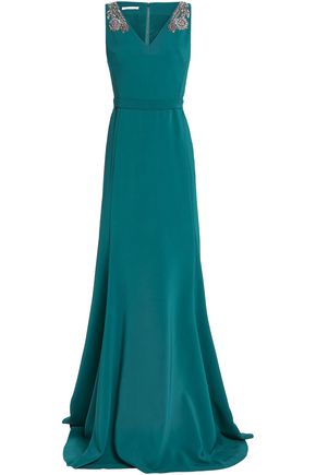 787823e62b20a3 ANTONIO BERARDI Embellished crepe gown