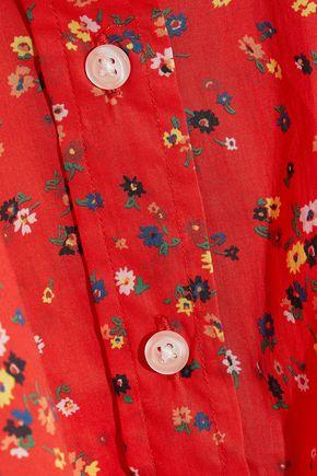 R13 Floral-print cotton-poplin shirt