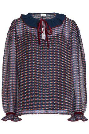 TALITHA Printed silk-georgette blouse