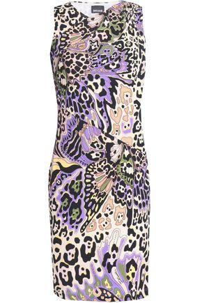 JUST CAVALLI Leopard-print woven mini dress