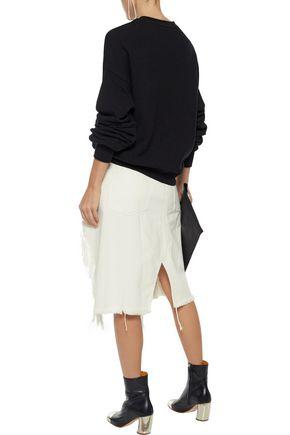 R13 Oversized printed cotton-blend terry sweatshirt