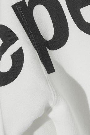 R13 Distressed printed cotton-blend hooded sweatshirt