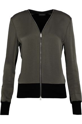 RAG & BONE Vivienne crepe de chine and stretch-knit jacket