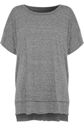 CURRENT/ELLIOTT The High Low mélange jersey T-shirt