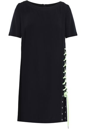 VERSUS VERSACE Lace-up crepe mini dress