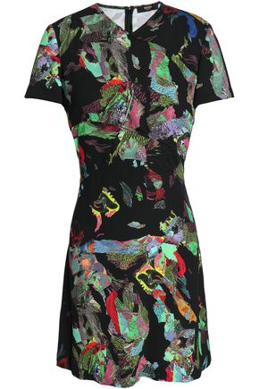 VERSUS VERSACE Printed crepe mini dress