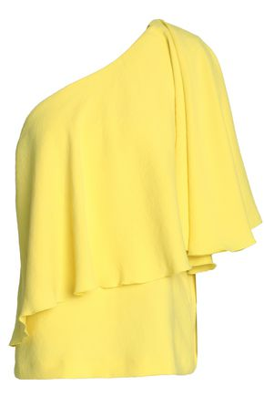 BA&SH One-shoulder layered crepe top