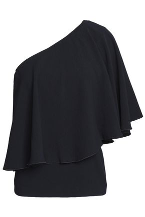 BA&SH One-shoulder layered crepe top