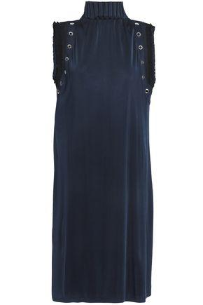 JUST CAVALLI Eyelet-embellished stretch-jersey dress