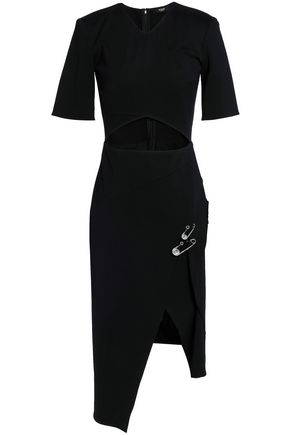 VERSUS VERSACE Asymmetric cutout stretch-jersey dress