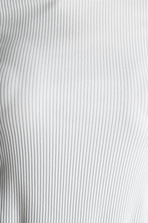 DIANE VON FURSTENBERG Ribbed stretch-jersey top