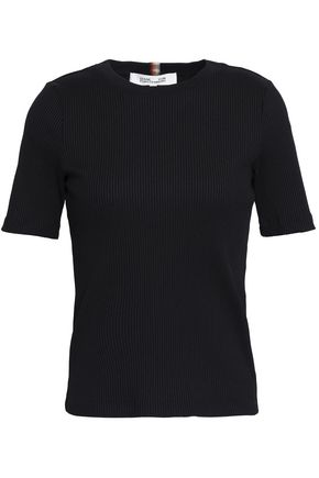 DIANE VON FURSTENBERG Ribbed stretch-jersey top