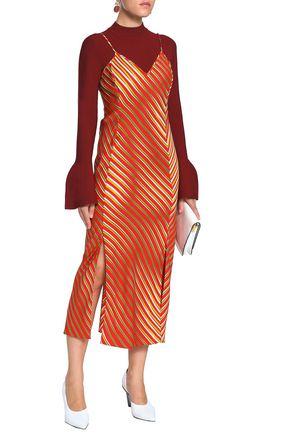 DIANE VON FURSTENBERG Stretch-silk slip dress