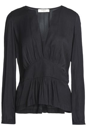 BA&SH Gathered woven blouse