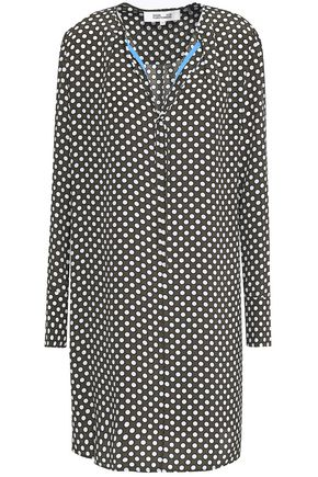 DIANE VON FURSTENBERG Polka-dot silk crepe de chine mini dress