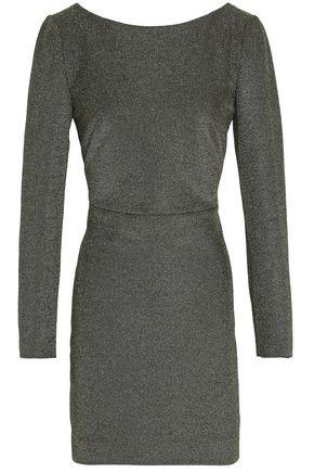 DIANE VON FURSTENBERG Metallic cotton-blend mini dress