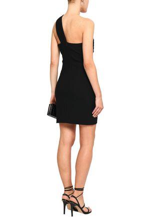 BA&SH One-shoulder ruched crepe mini dress