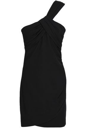 BA&SH One-shoulder ruched crepe mini dress