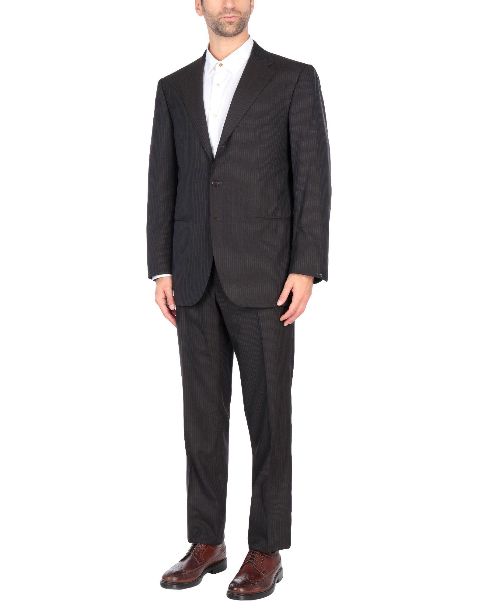 《送料無料》SARTORIO メンズ スーツ ダークブラウン 50 ウール 100%