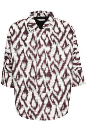 BA&SH Metallic cotton-blend jacquard top