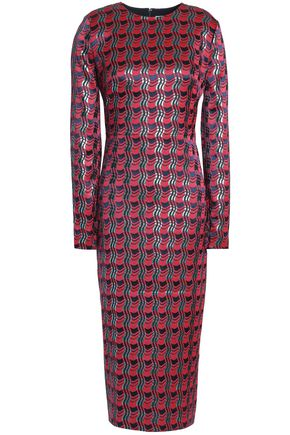 DIANE VON FURSTENBERG Metallic jacquard midi dress
