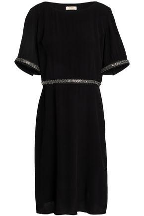 BA&SH Cutout embellished crepe dress