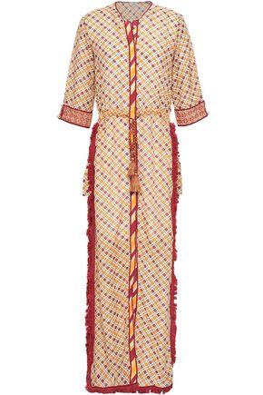 TALITHA Tasseled printed cotton and silk-blend maxi dress
