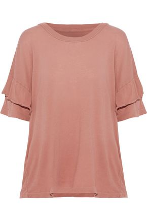 CURRENT/ELLIOTT The Ruffle Roadie cotton-jersey T-shirt