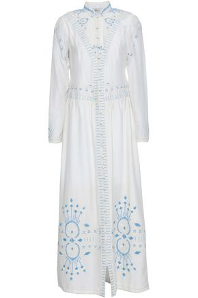 TALITHA Embroidered cotton and silk-blend gauze maxi dress