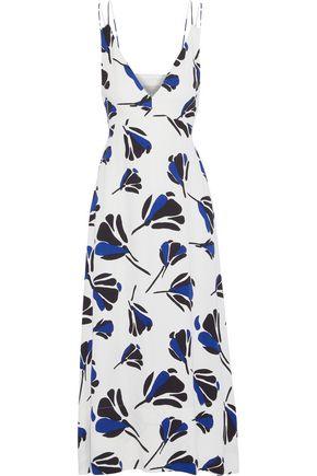 GREY JASON WU Tie-back printed crepe midi dress