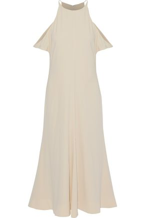 2f90daad0868 ELIZABETH AND JAMES Cold-shoulder crepe de chine midi dress