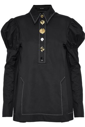 ELLERY Breuer button-detailed cotton-poplin blouse