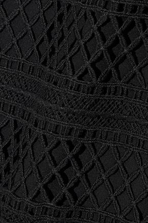RAOUL Guipure lace shirt dress
